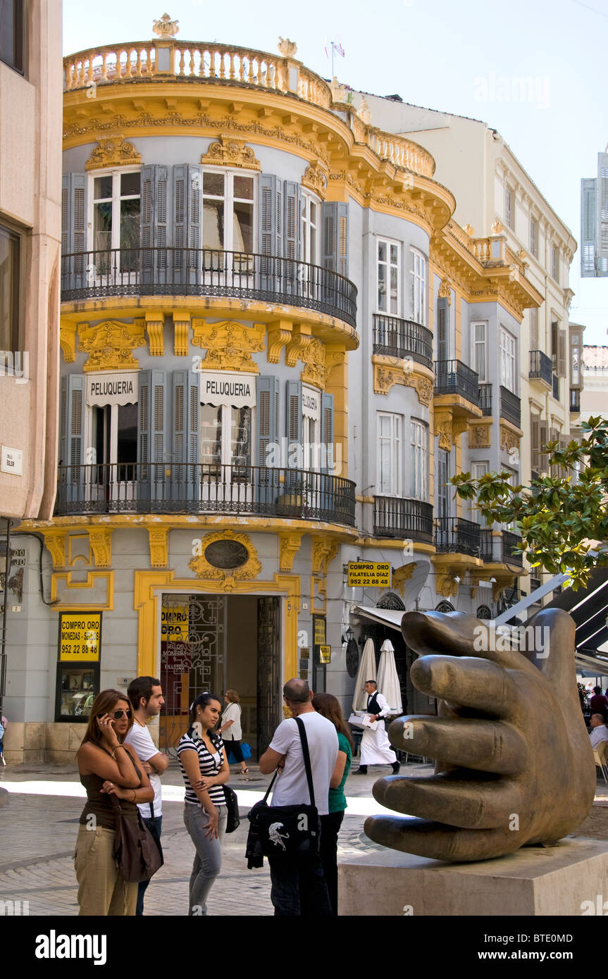Malaga City Town Center Spanish Spain Historic Stock Photo
