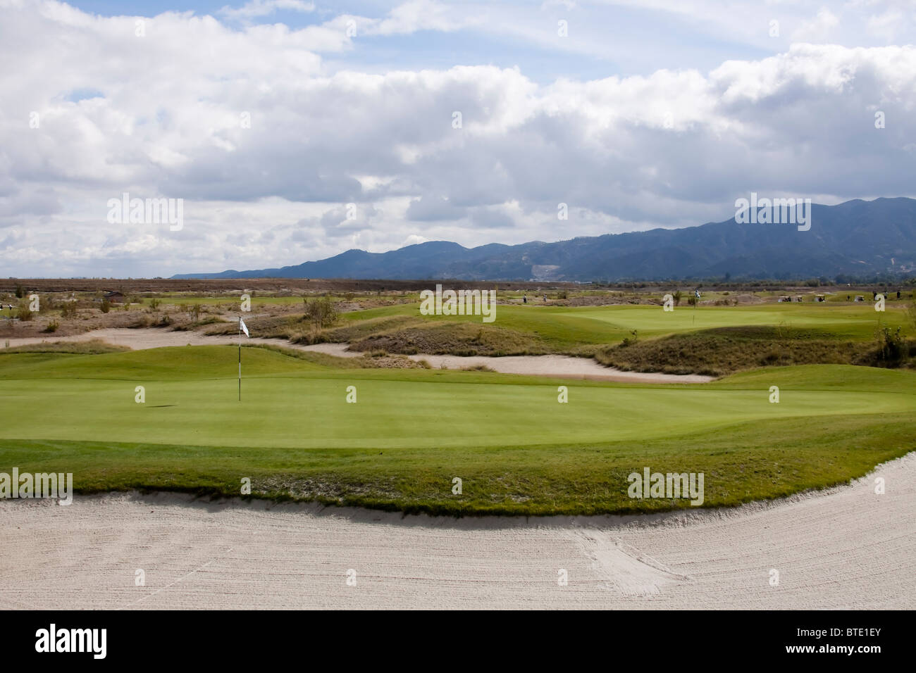 links golf course green in california - Stock Image