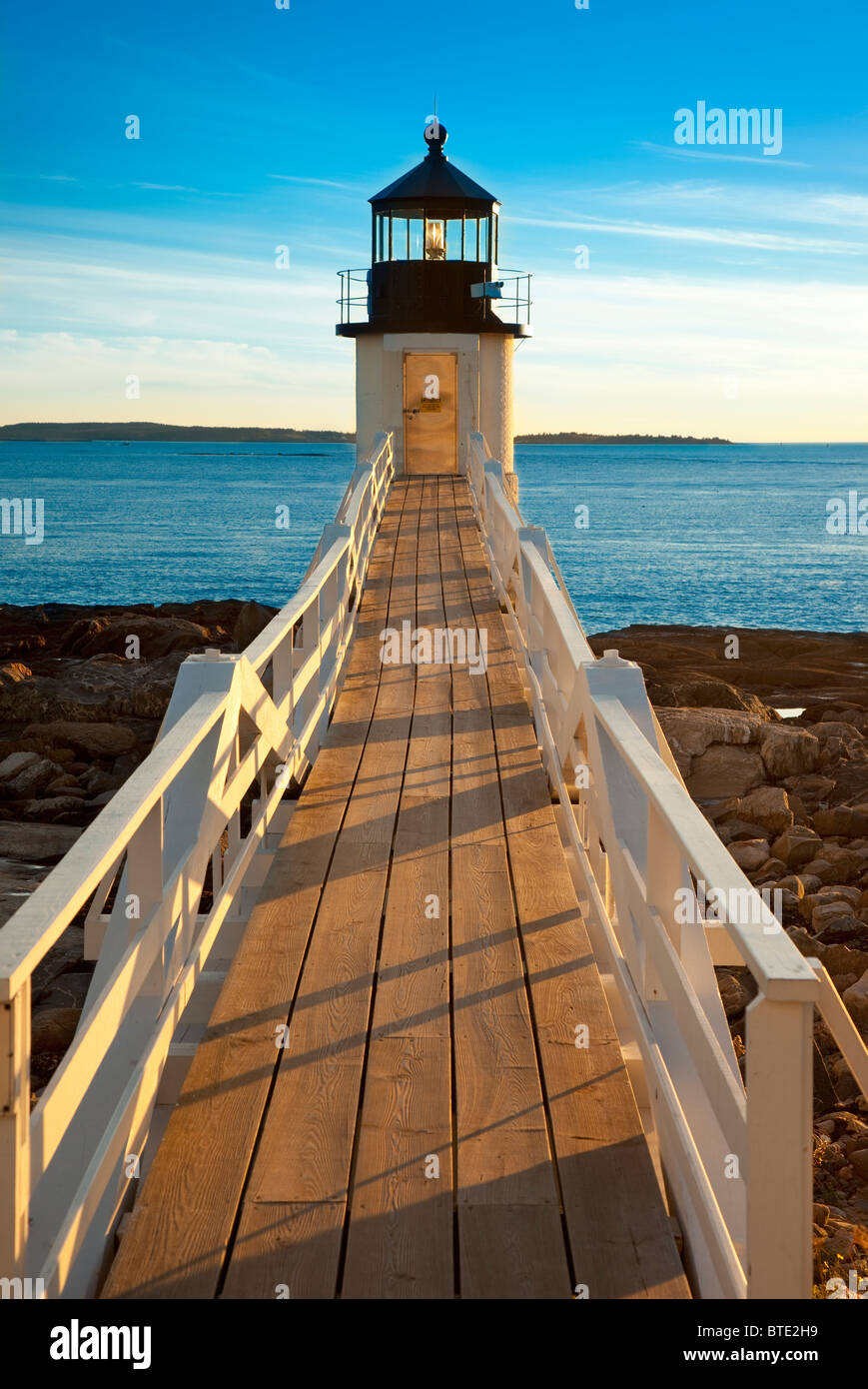 Marshall Point Lighthouse - built 1832, near Port Clyde Maine USA - Stock Image