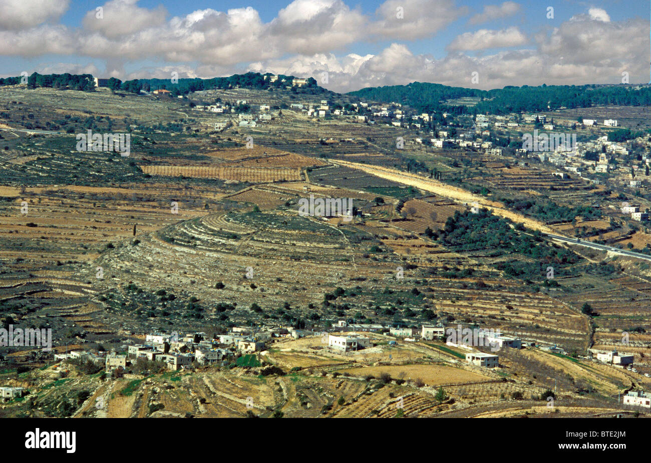 KIRIJAT YEARIM, TOWN ON THE WESTERN BORDER OF JUDAH'S TERRITORY.   THE ARK WAS STORED   THERE UNTIL  DAVID BROUGHT - Stock Image