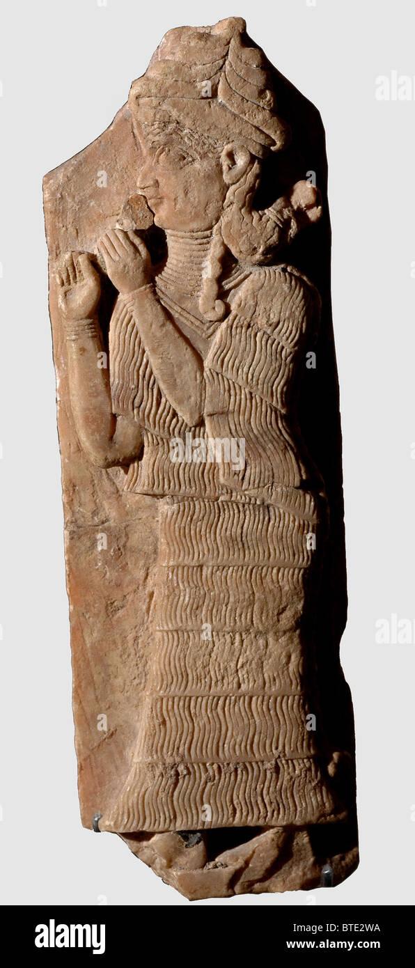 5354. Mesopotamian Goddess Lama, the Goddess of personal protection - Stock Image