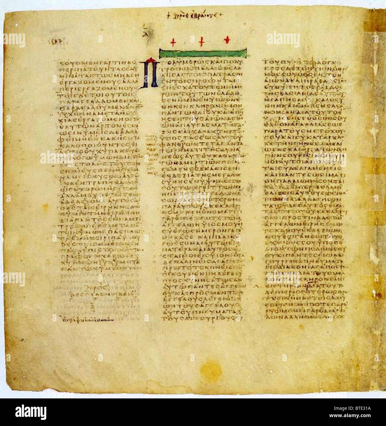 5396  Codex Sinaiticus is a 4th century manuscript of the