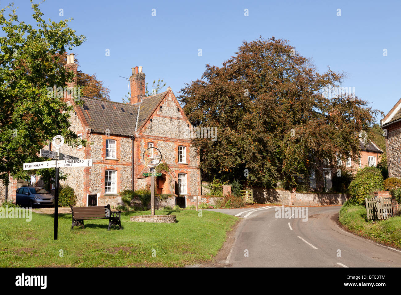 The traditional north Norfolk village of Great Snoring, England, UK. - Stock Image