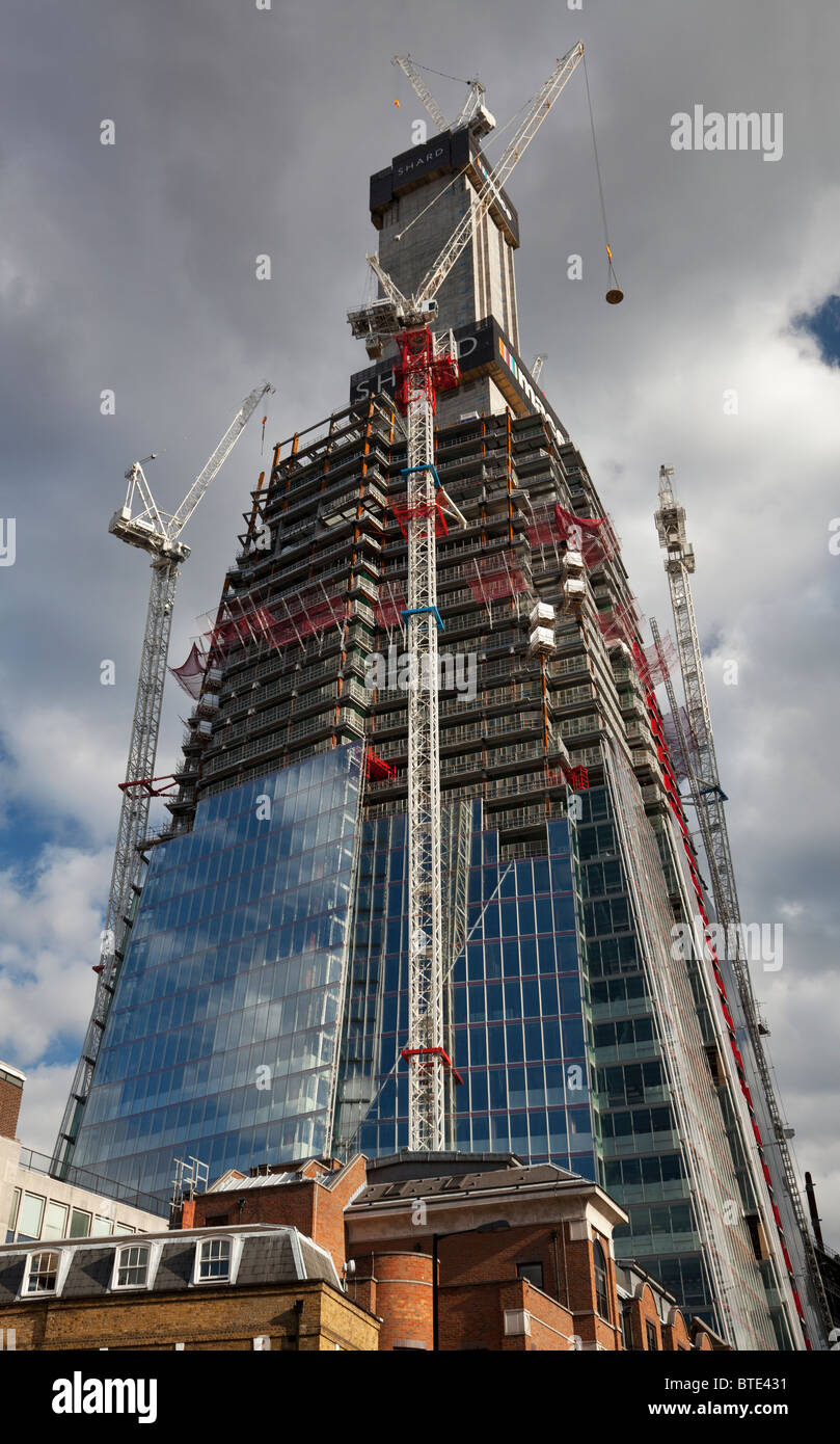The Shard skyscraper under construction at London Bridge in London, UK Stock Photo