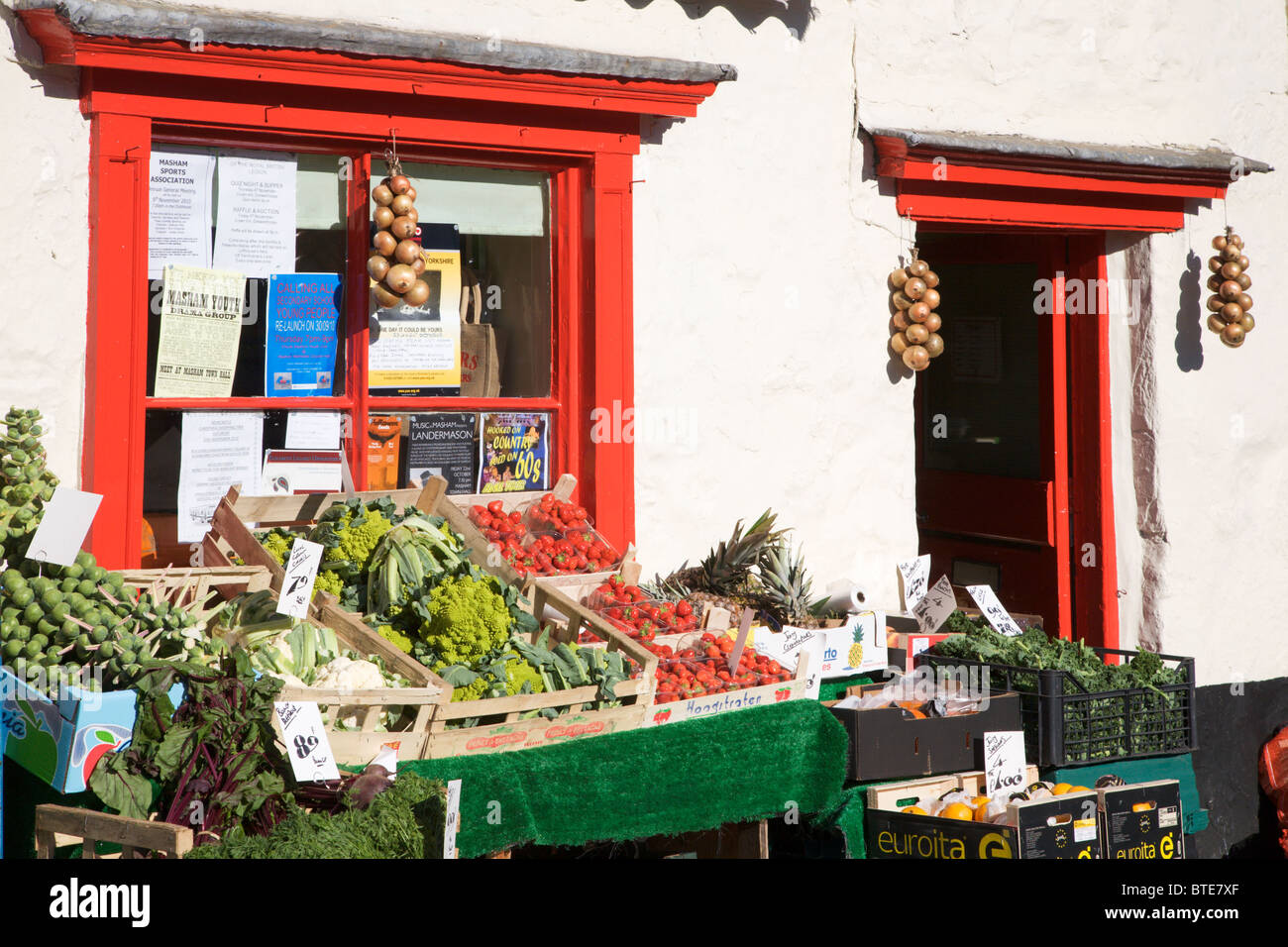 Traditional Greengrocers Shop in Masham North Yorkshire England - Stock Image