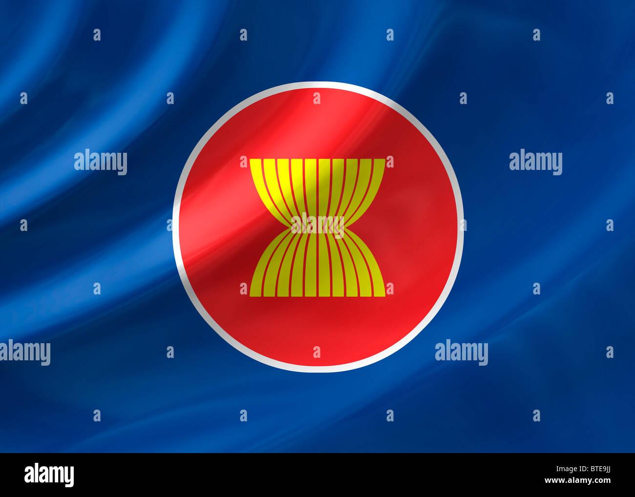 ASEAN flag - Stock Image