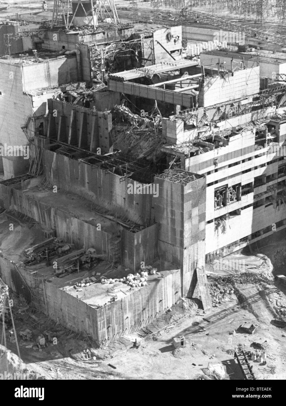 Plans for the final shutdown of the Chernobyl nuclear power plant. - Stock Image