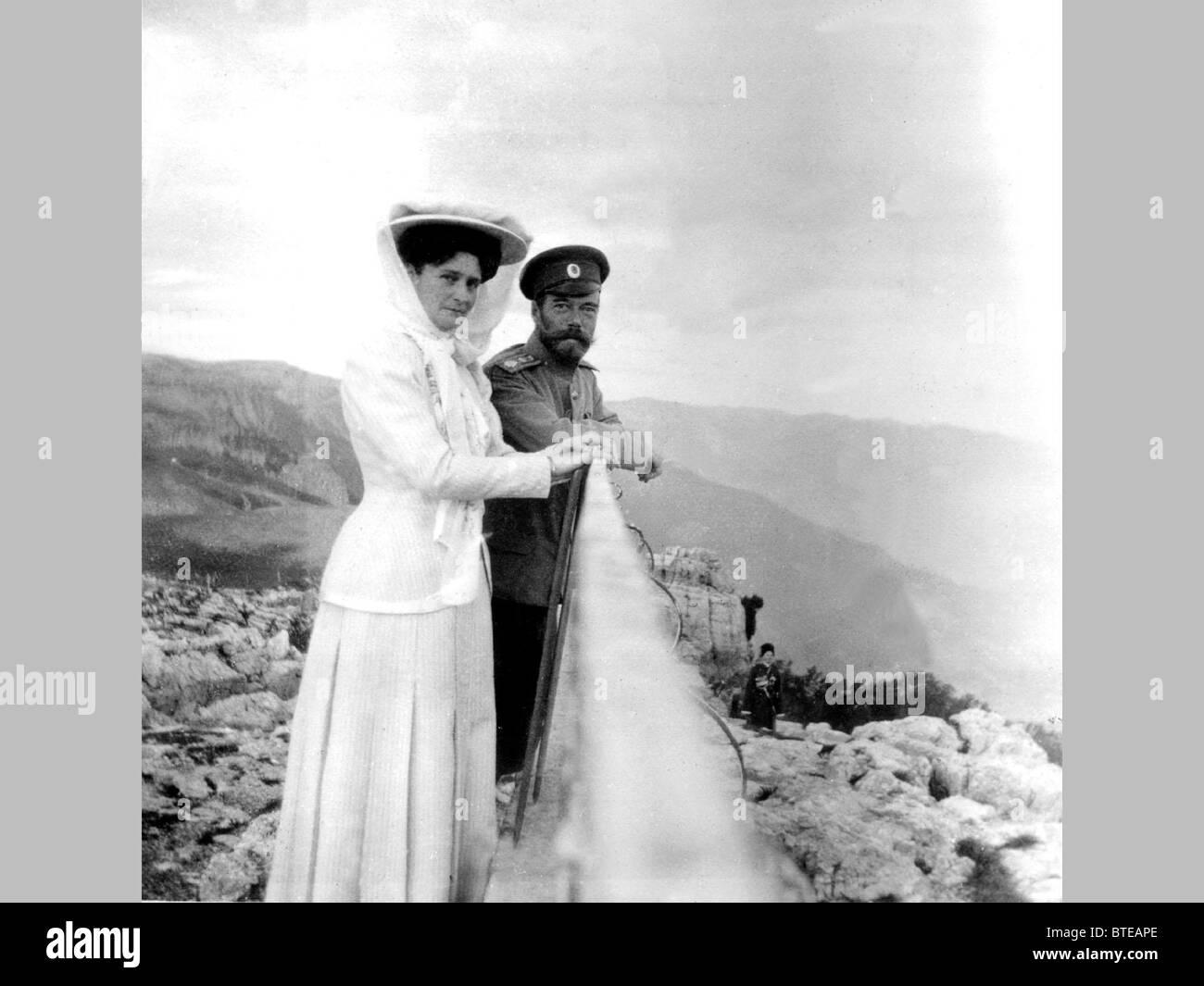 Nicholas II. Family Album exhibition Stock Photo