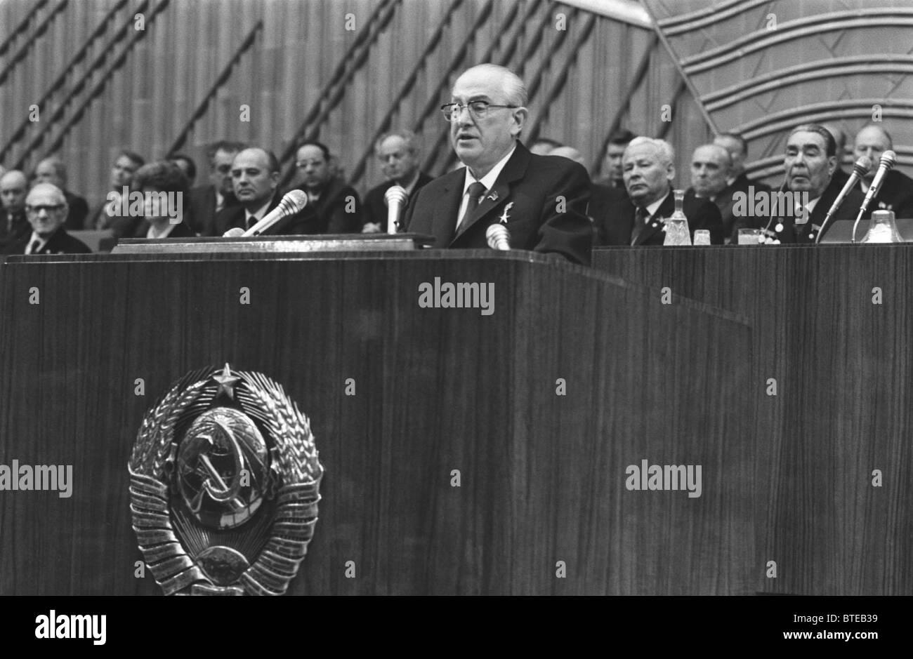 KGB chairman Yuri Andropov - Stock Image