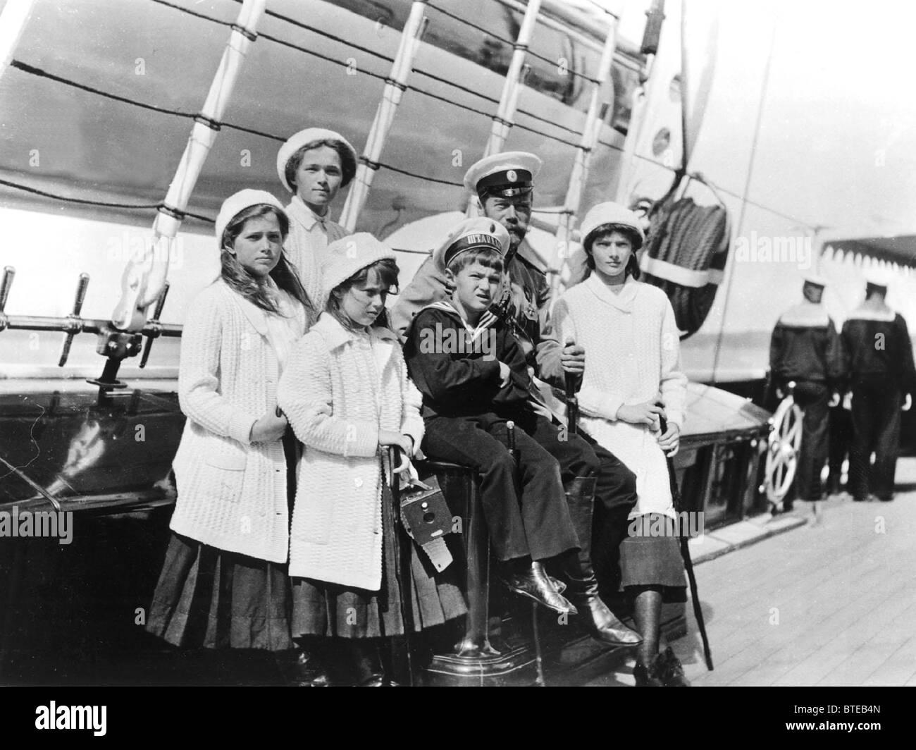An exhibition Nicholas II. Family Album Stock Photo