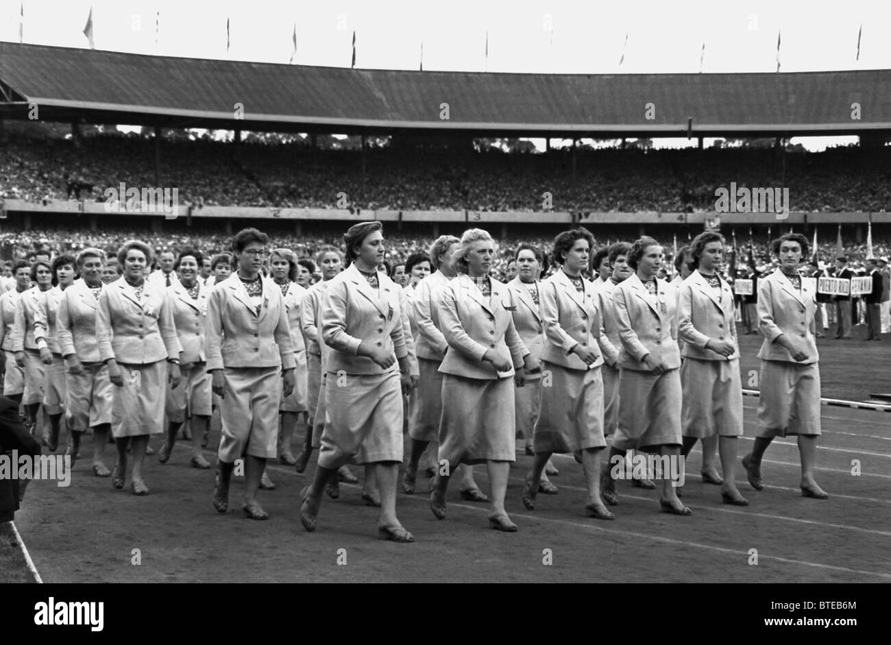 The 1956 Summer Olympics - Stock Image