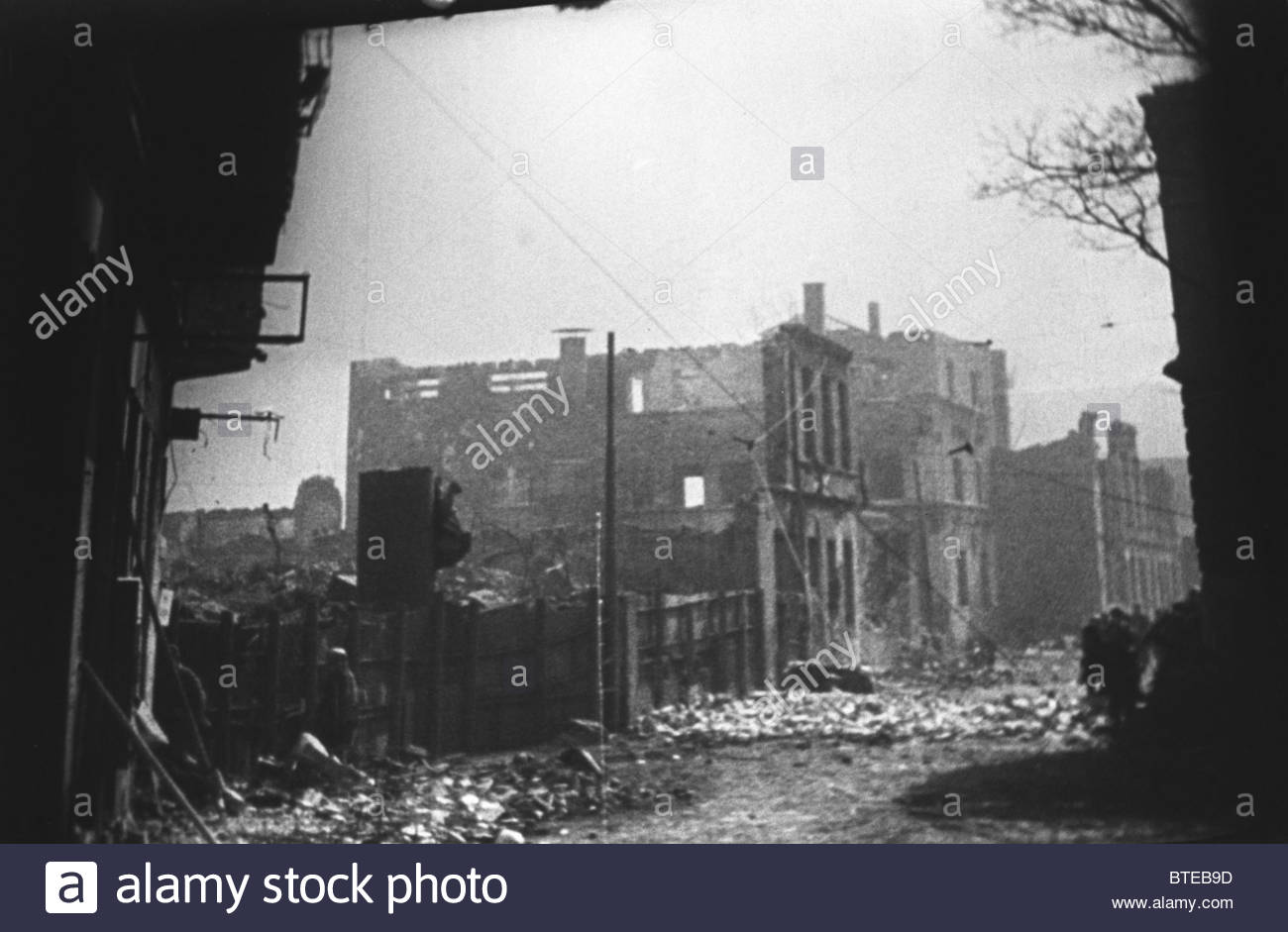 Ruins of Kaliningrad in the aftermath of war, 1945 - Stock Image
