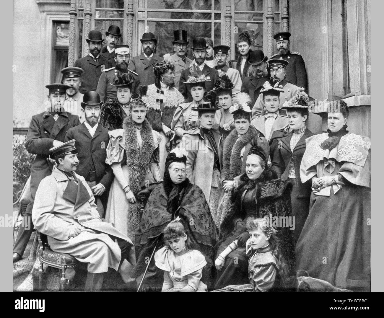 75-year-old Queen Victoria of Great Britain - Stock Image
