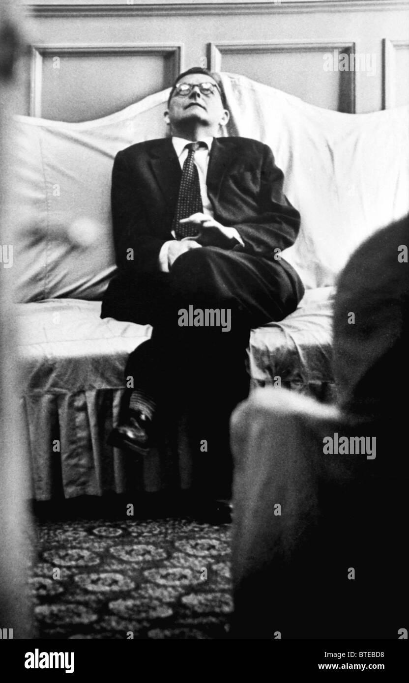 Dmitry Shostakovich attends his symphony premiere, 1962 - Stock Image