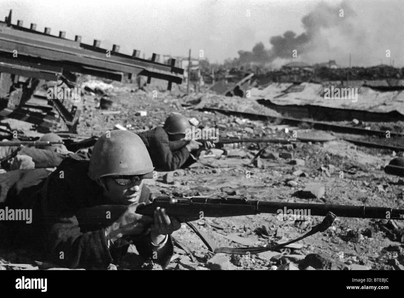 Great Patriotic War. Stalingrad, 1942 - Stock Image