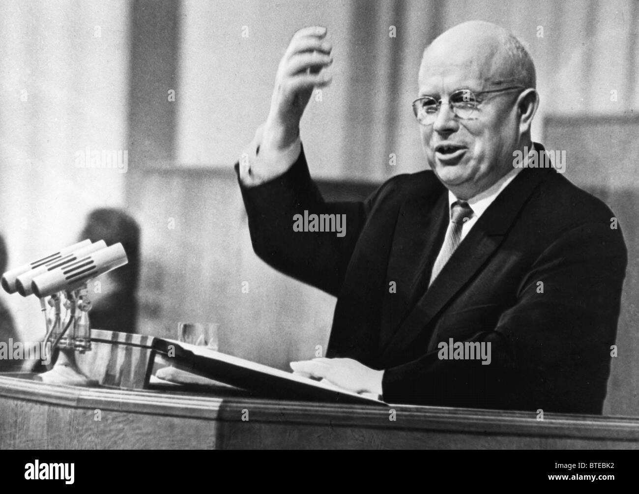 Nikita Khrushchev, 1963 - Stock Image