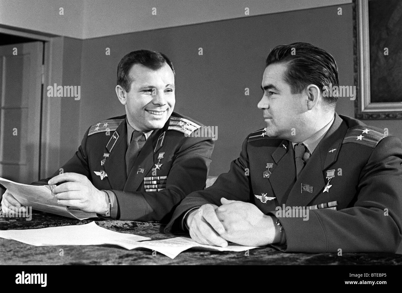 Yuri Gagarin and Andrian Nikolayev - Stock Image