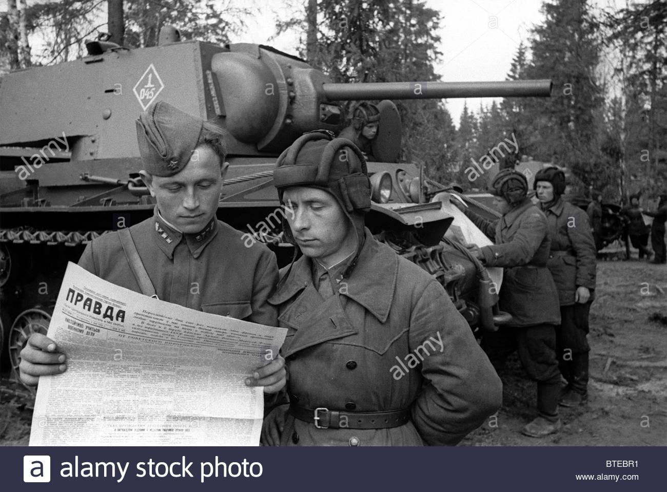 Great Patriotic War. Western Front, 1942 - Stock Image