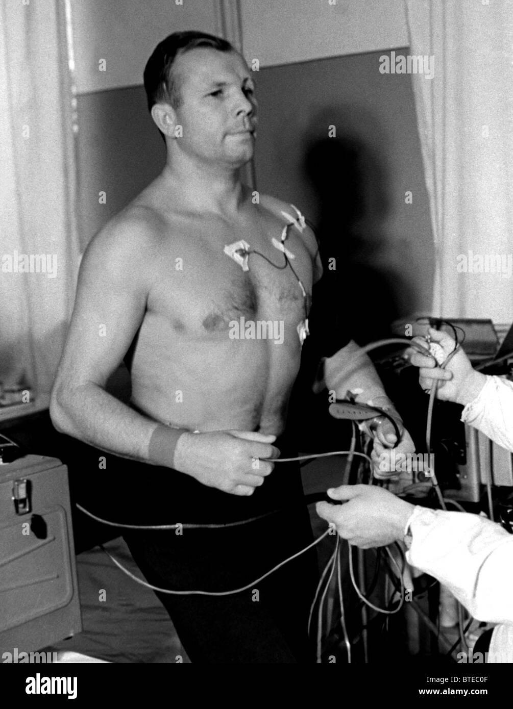 World's first astronaut Yuri Gagarin, 1966 - Stock Image