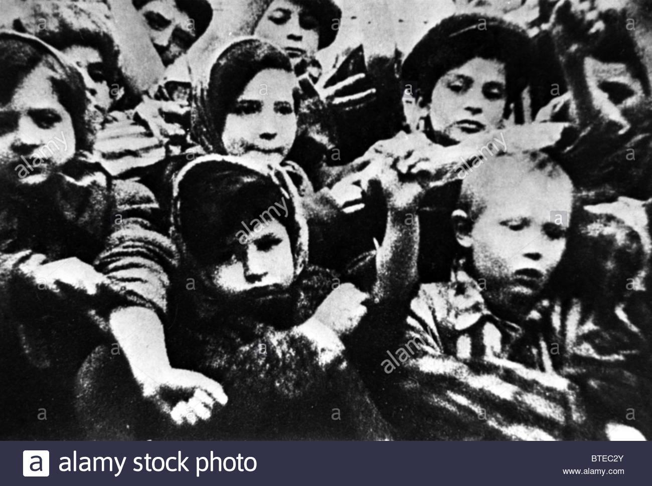 Children of Auschwitz -Birkenau (Oswiecim) - Stock Image