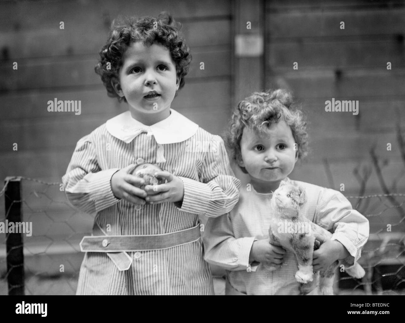 The 'Titanic Orphans' Michel (left) + Edmond (right) Navratil - famous survivors of the Titanic disaster - Stock Image