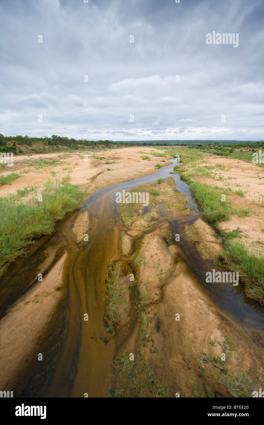 Letaba River on an overcast day - Stock Image