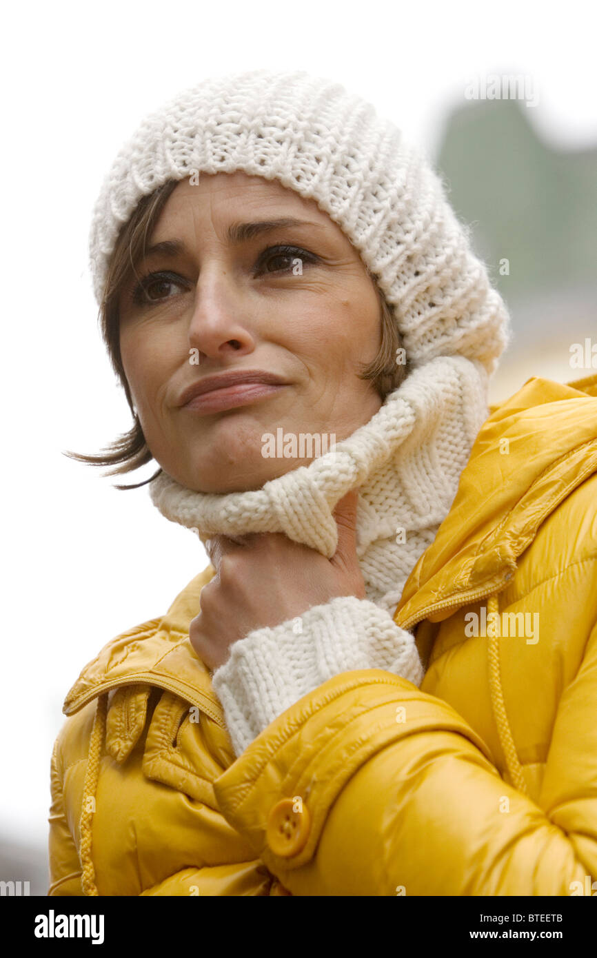 Woman having a sore throat - Stock Image