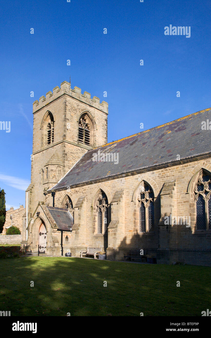 St Matthews Church Leyburn North Yorkshire England - Stock Image