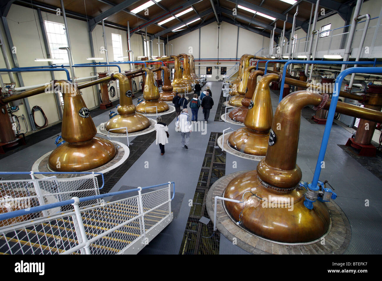 Guided Tour, The Glenfiddich Distillery, Dufftown, Keith, Banffshire, Scotland - Stock Image