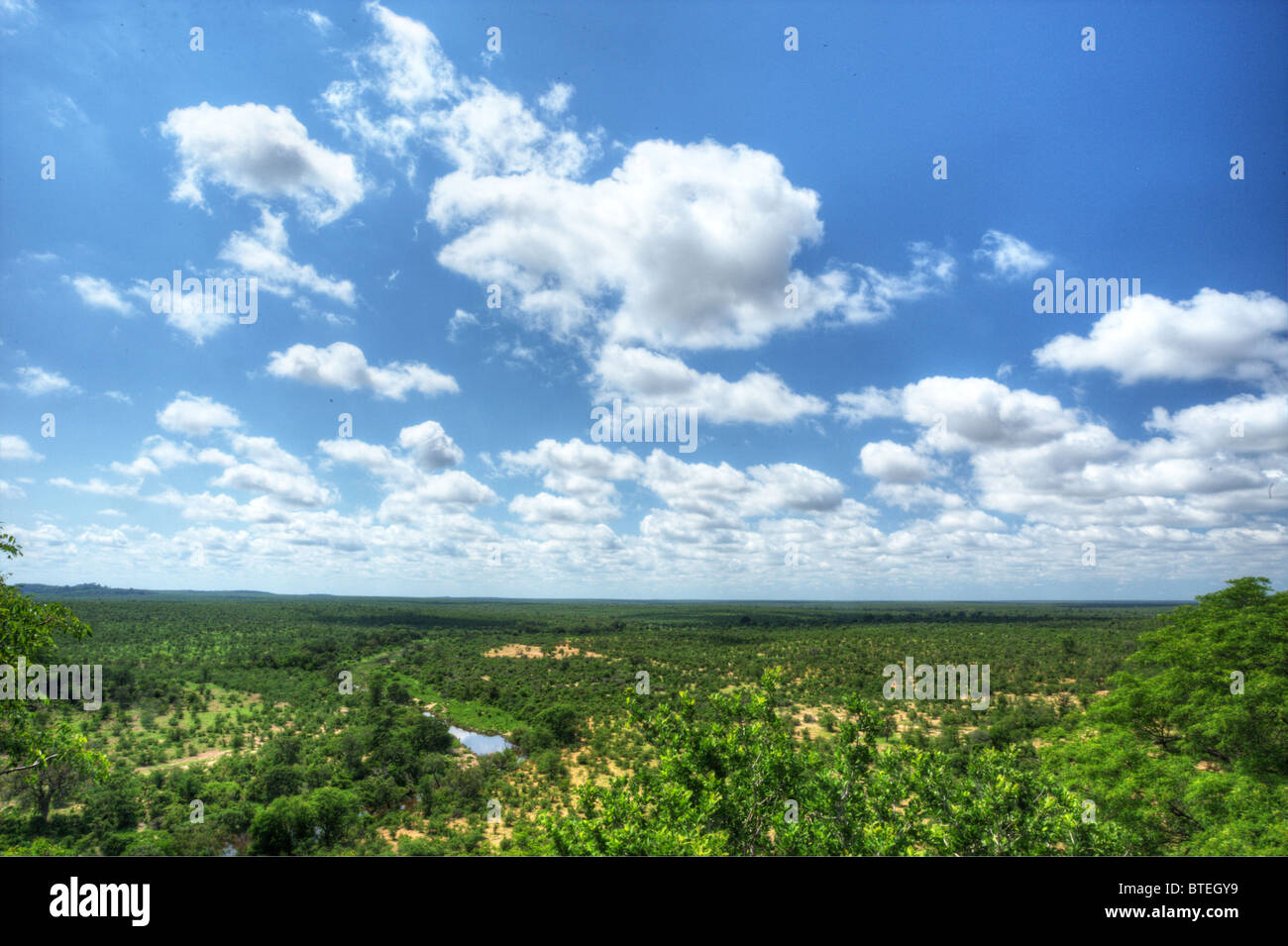 Scenic view of the Lowveld from Bateleur viewpoint - Stock Image