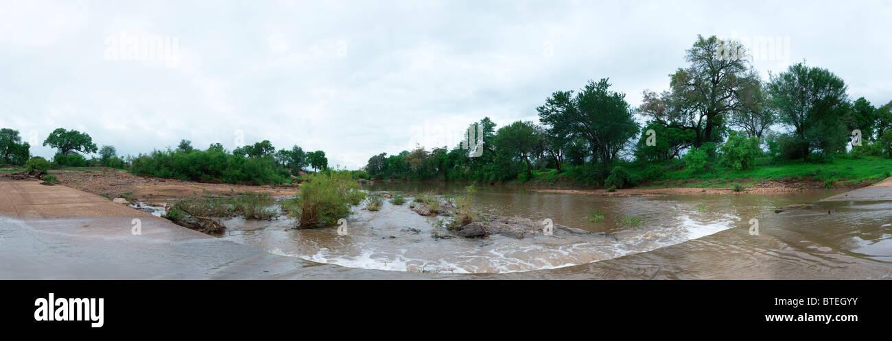 Shingwedzi river flowing on an overcast day Stock Photo