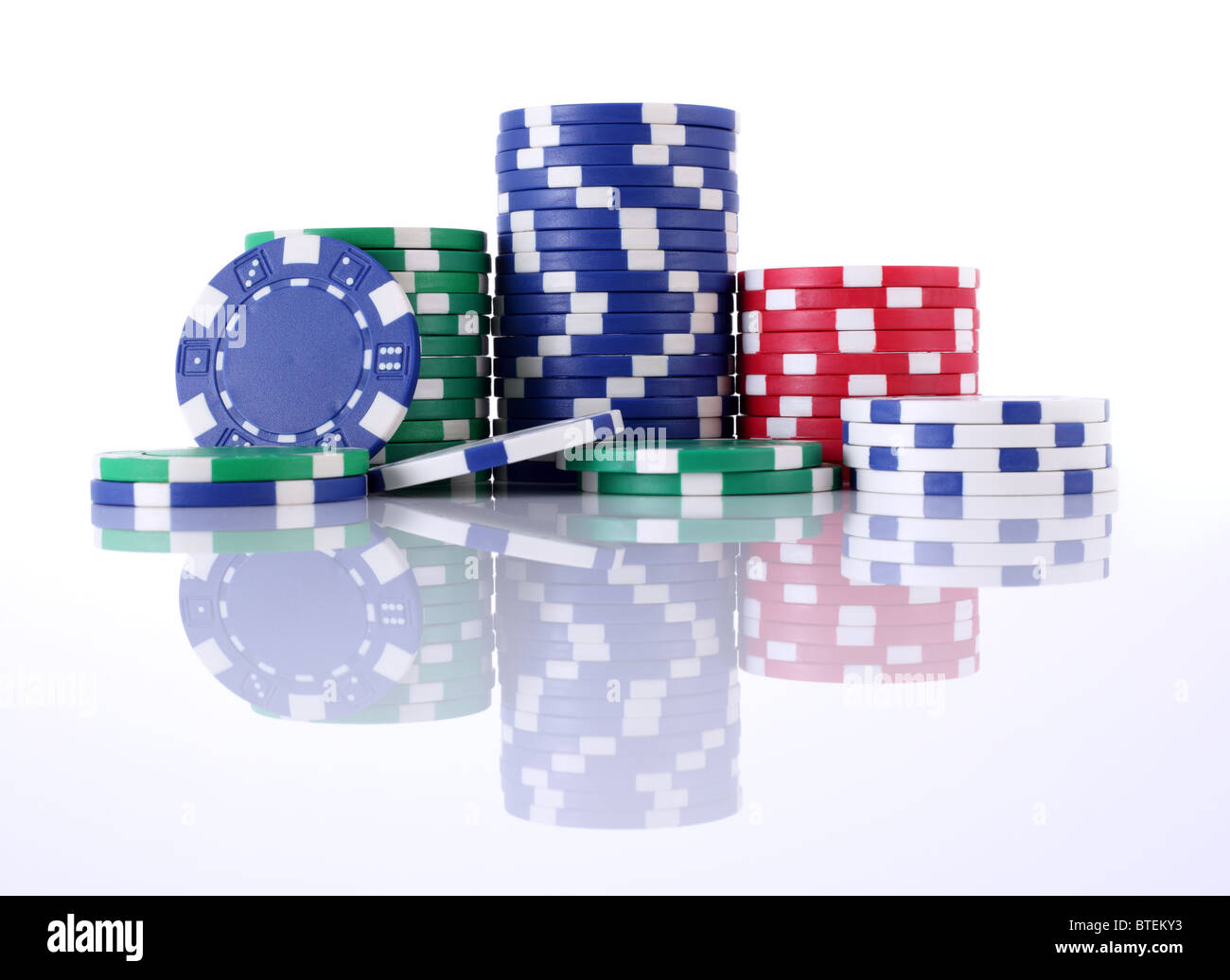 Poker chips - Stock Image