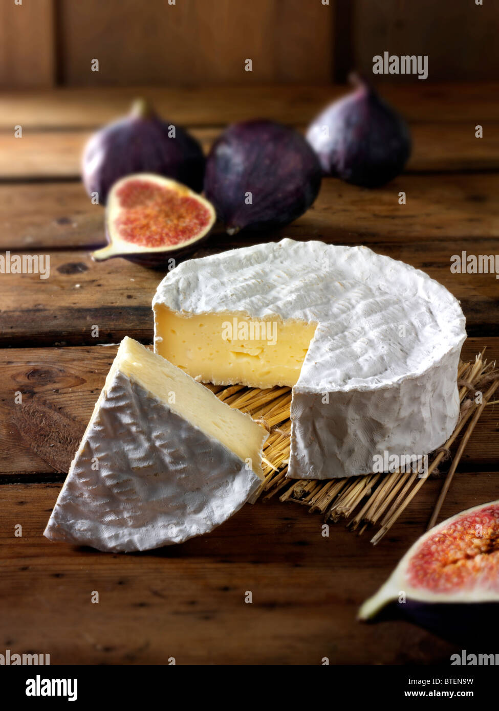 Traditional coulommier French cheese - Stock Image