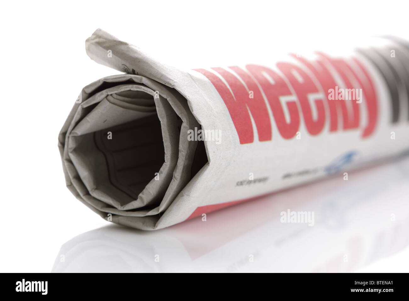 Weekly newspaper - Stock Image