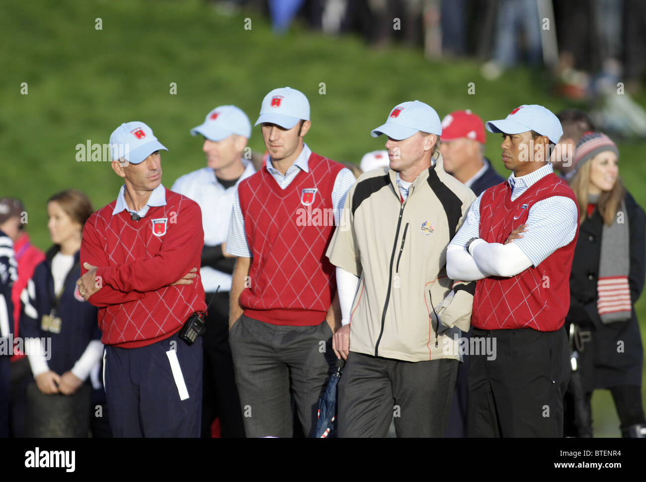 A DISHEARTENED COREY PAVIN AND 2010 RYDER CUP CELTIC MANOR R CELTIC MANOR RESORT CITY OF NEWPORT WALES 03 October - Stock Image