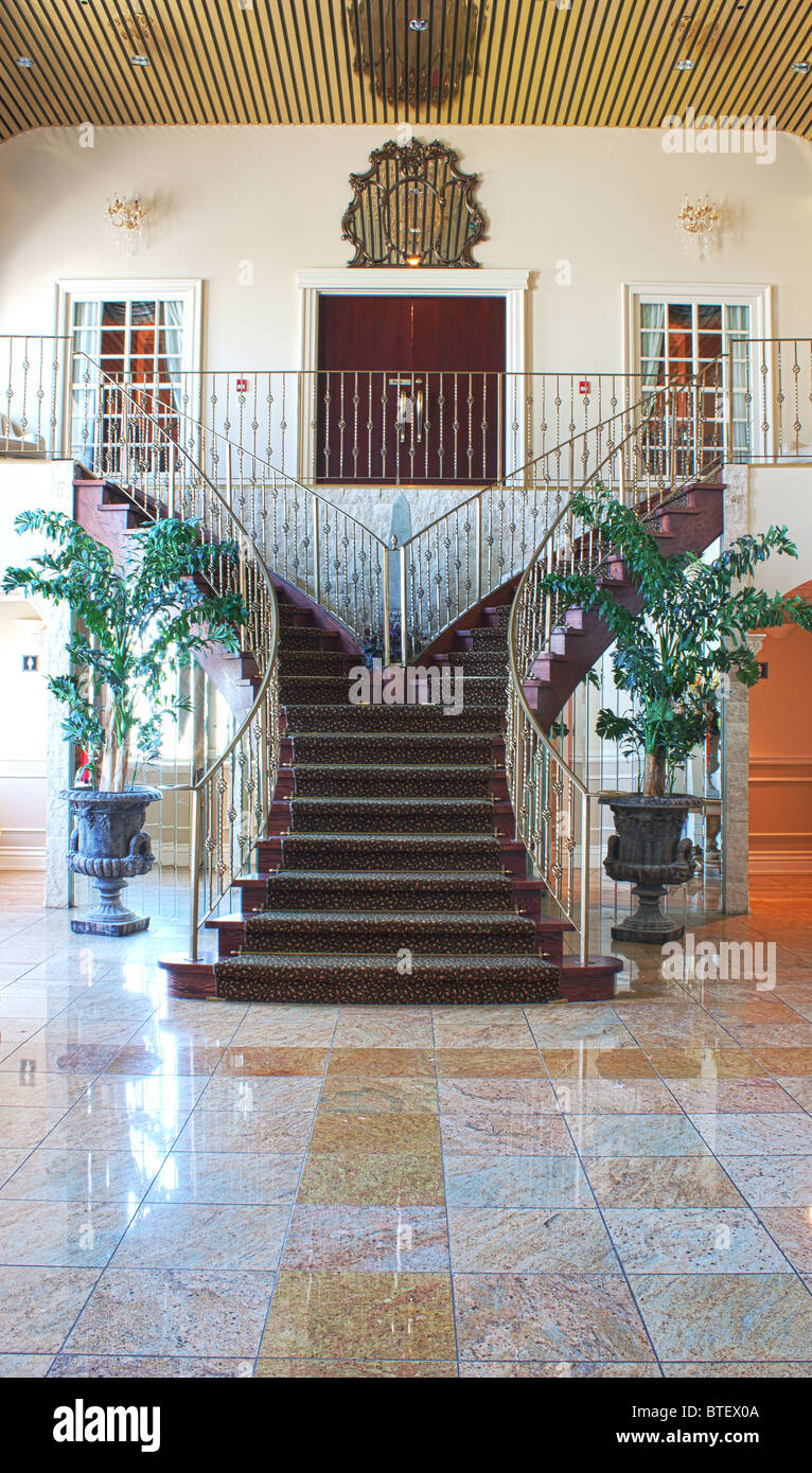 staircase staircases banquet hall interior - Stock Image