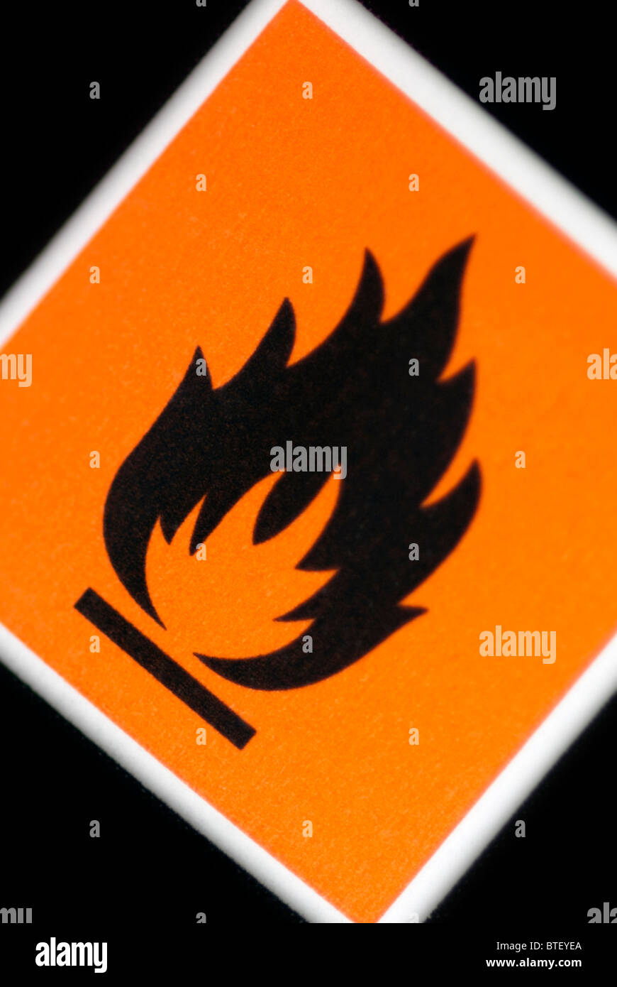 Inflammable Sign - Stock Image