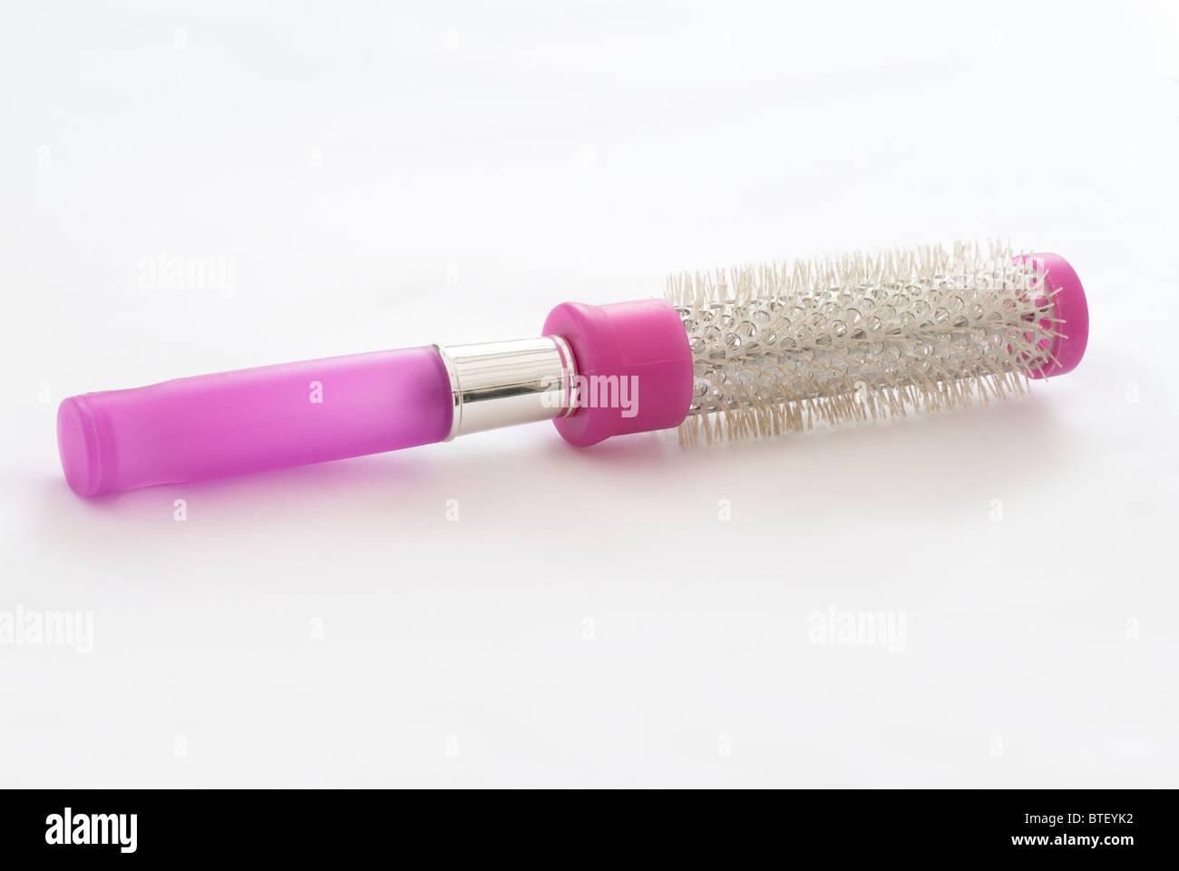 Round Hair Brush - Stock Image