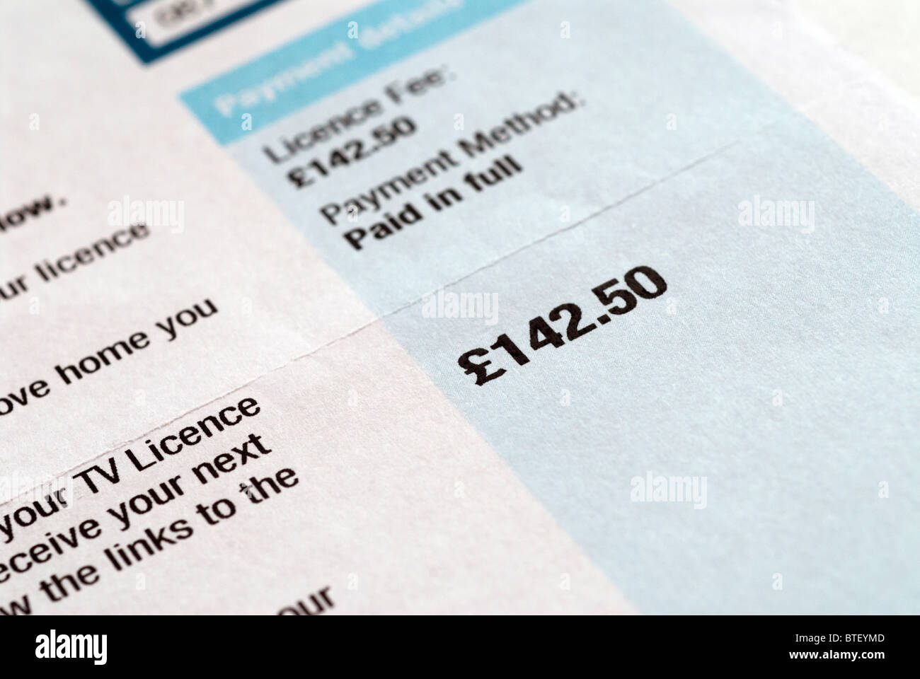 TV Licence - Stock Image