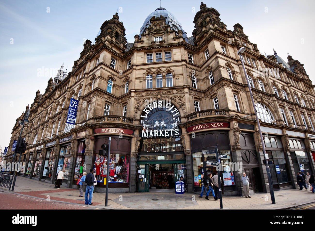 Leeds City Markets,also known as Leeds Kirkgate Market, West Yorkshire - Stock Image