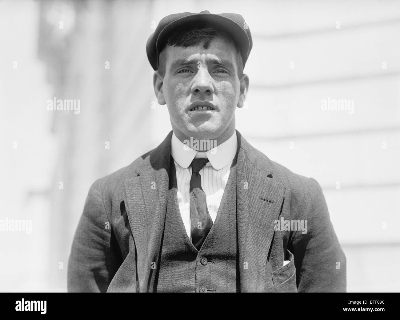 Vintage photo c1912 of Titanic survivor Frederick Fleet - the lookout who spotted the iceberg which sank the ship - Stock Image