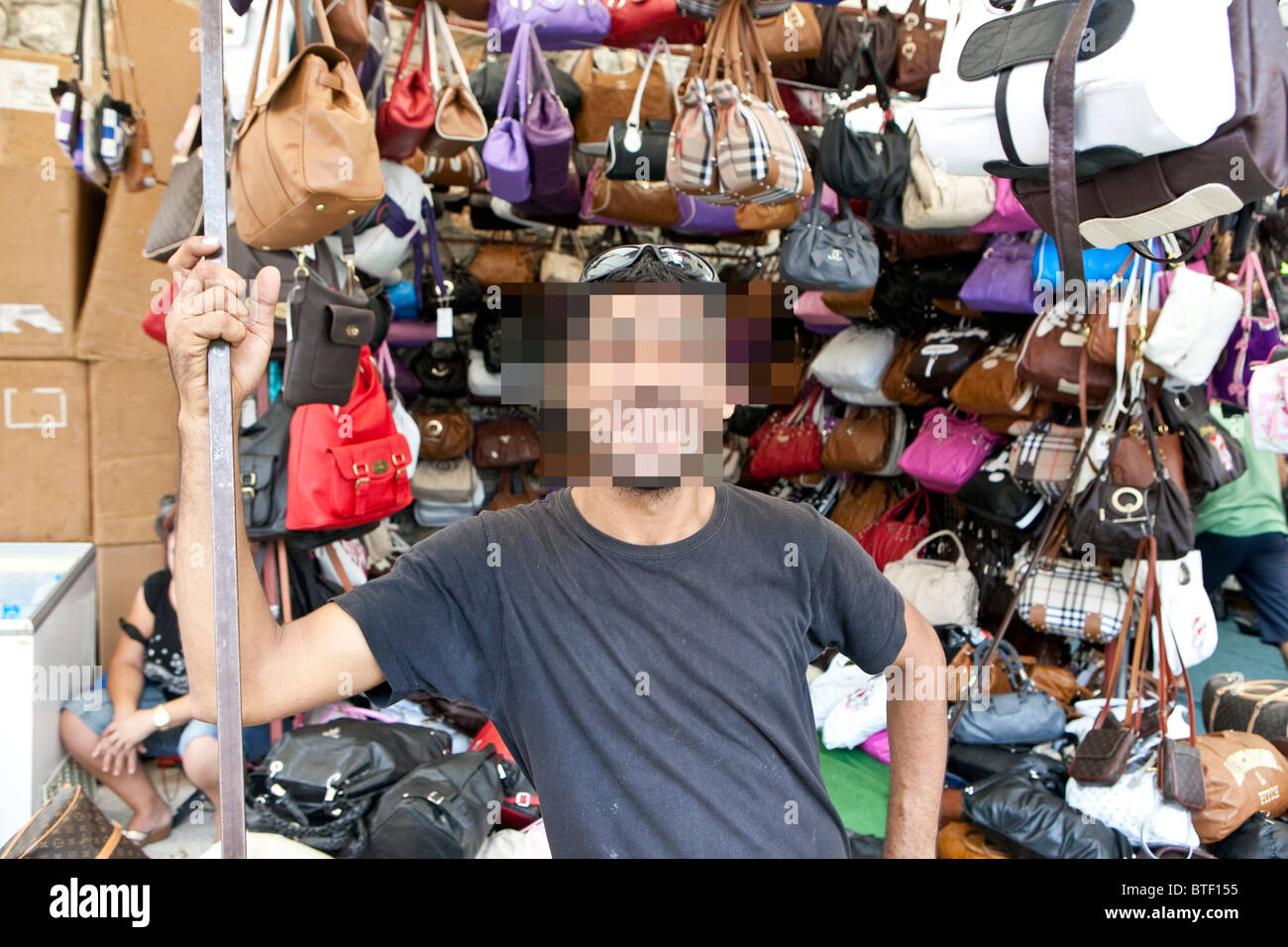 a9480450d Counterfeit and fake goods on sale to tourists in a Turkish market - Stock  Image