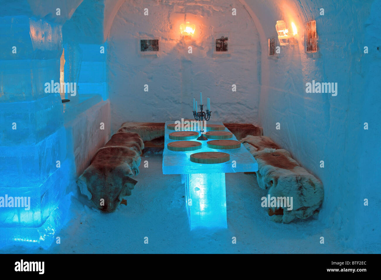 The Ice Hotel Sorrisniva Igloo Hotel Alta Norway Stock