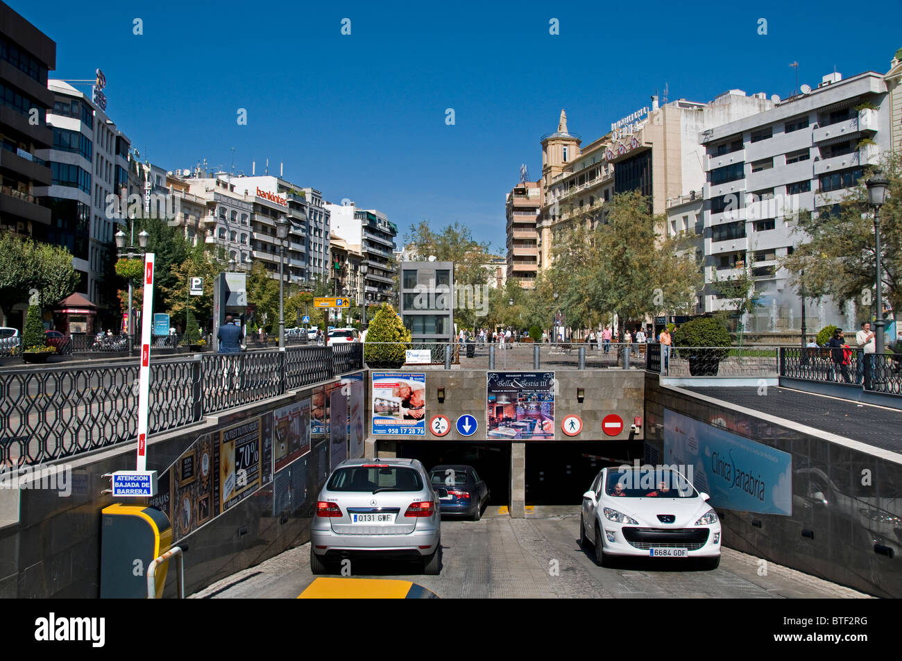 Granada Spain Andalusia underground parking garage - Stock Image