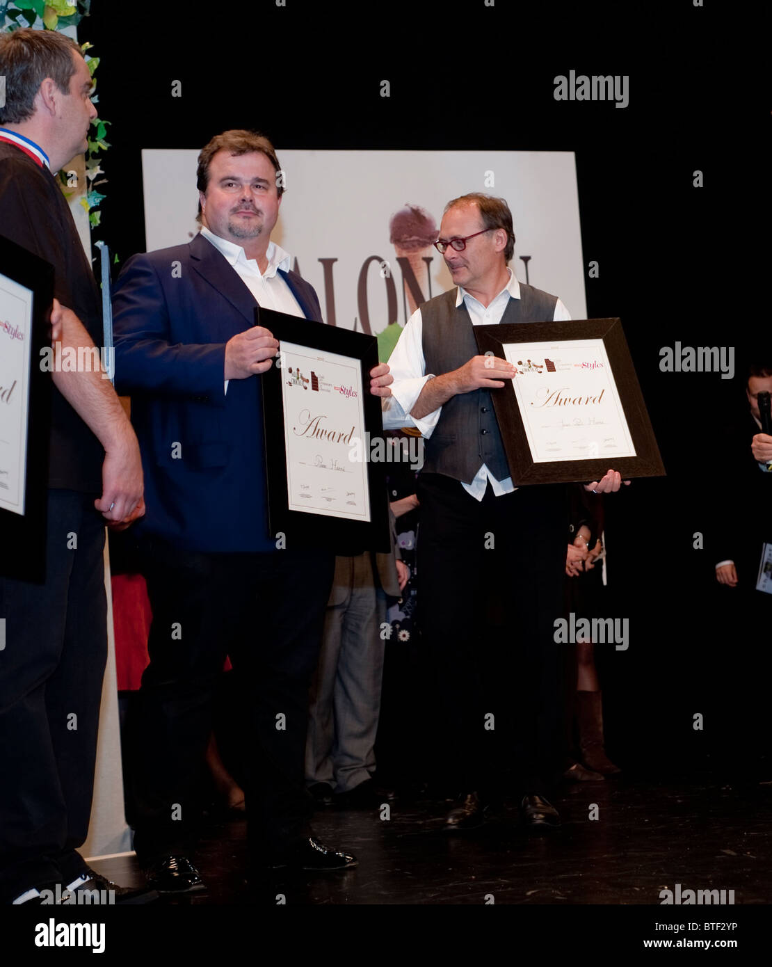 PARIS, FRANCE, Chocolate Trade Show, French Chefs Receiving Awards for Best Work, 'Pierre Hermé', 'J.P. - Stock Image