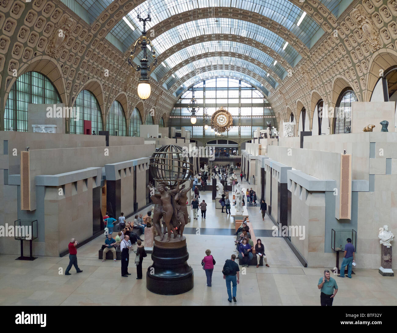 Interior of Musee d'Orsay in Paris France - Stock Image