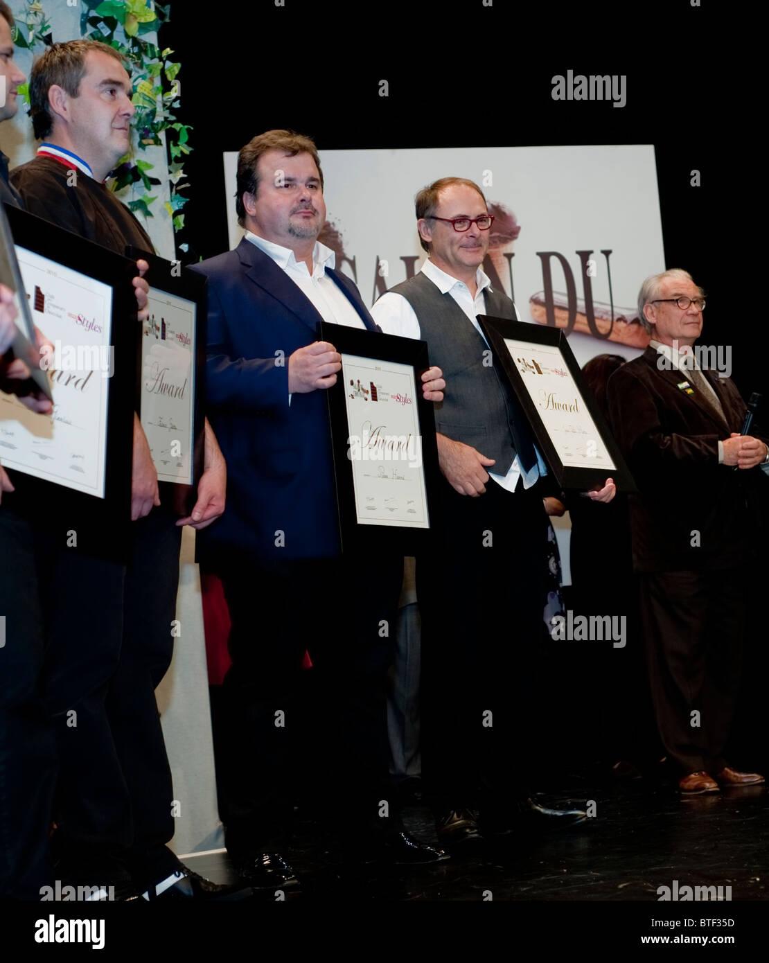 PARIS, FRANCE, French Chefs Winning Awards at Ceremony at Chocolat Trade Show, Salon du Chocolat - Stock Image