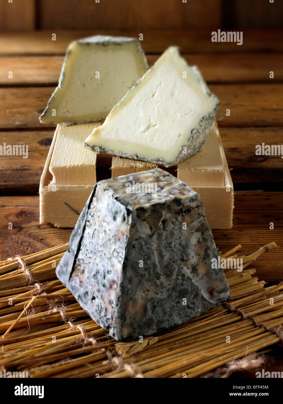 Traditional valencay French Cheese - Stock Image
