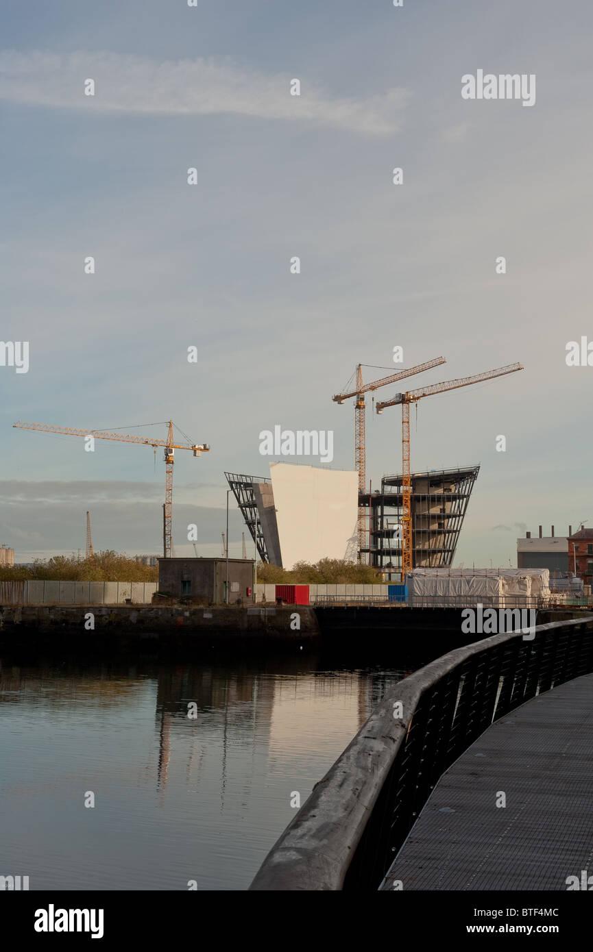 The Titanic Signature Building under construction Stock Photo