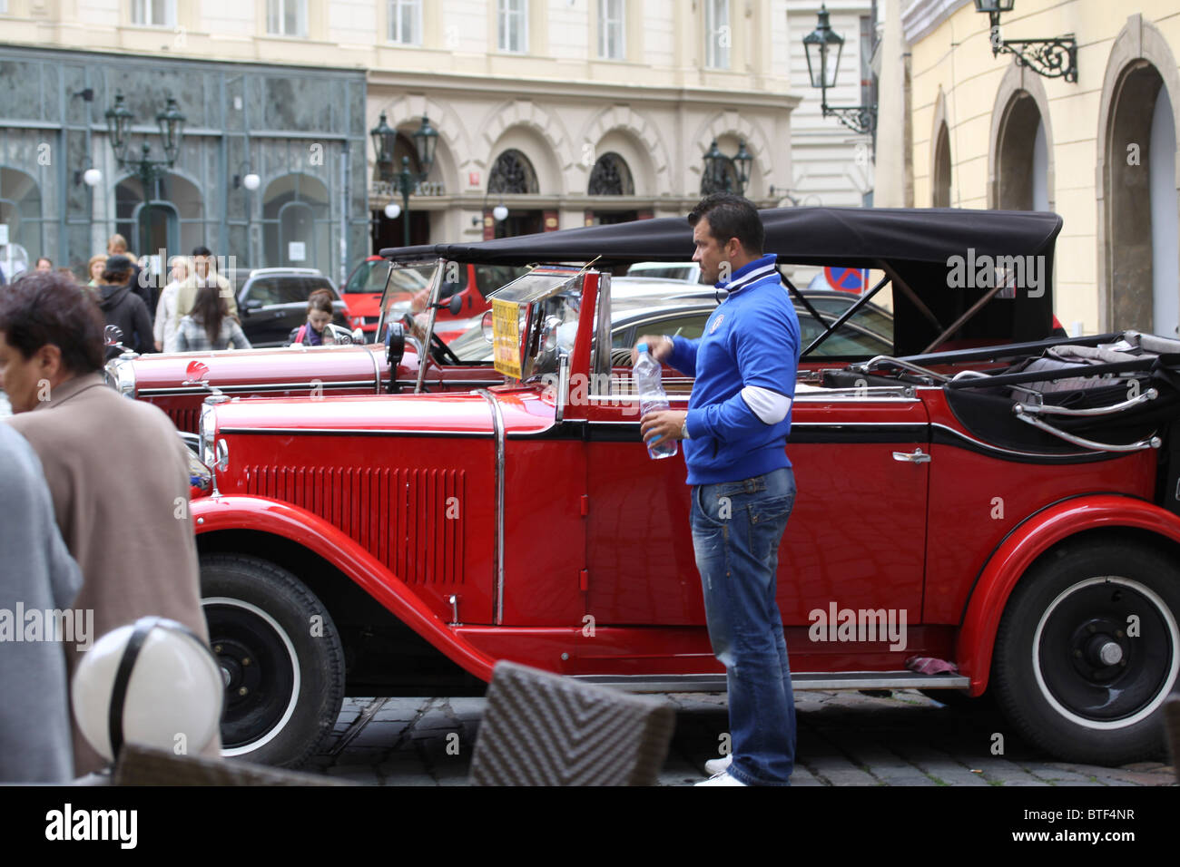 Chauffeur driven vintage cars for hire Old Town Square Prague Praha ...